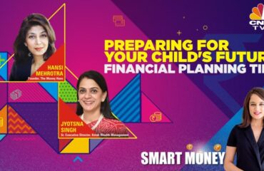 Hansi appearing on CNBC discussing childrens education
